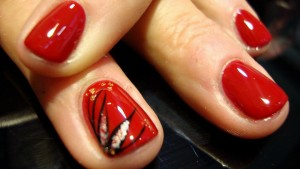 dibujos en manicura rojo unas nailscoruna nails coruna